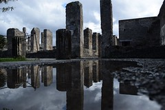 (Giramund) Tags: italy reflection water puddle ruins pompeii scavi