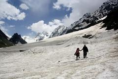 Thajiwas Glacier (Nirjhor Nandonik) Tags: two snow glacier kashmir twopeople sonamarg snowmountains thajiwasglacier backdrophimalayas