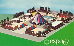 Vintage Expo 67 Postcard, The 1967 Montreal World's Fair - The International Scout Centre (France1978) Tags: montreal worldsfair expo67 vintageexpo67 the1967montrealworldsfair