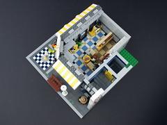 Cafe Corner (Palixa And The Bricks) Tags: hotel mod lego modification 10182 cafecorner