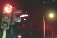 Into the light of the night (sven_breitkopf) Tags: street city black backlight night canon germany dark eos trafficlight thringen europe jena f2 58mm helios openaperture f20 udssr jentower helios442 eosm3