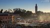 View across the Djemaa el Fna (dieLeuchtturms) Tags: sunset sonnenuntergang morocco maroc medina afrika marrakesh marokko jemaaelfna 16x9 marrakesch djemaaelfna djemaaelfnaa platzdergehängten marrakeshtensiftelhaouz