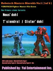 Robotech Masters Bioroids No.1 ( 1of 6 ) VERITECH Fighter Master File Extra (yuiyuasa) Tags: prime southerncross masters char zaku robotech zor tirolian bioroid aznabl