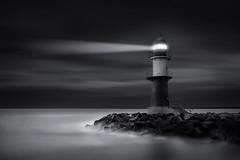 Warnemunde reloaded (jbhphoto21) Tags: sea lighthouse white black warnemnde long exposure baltic ostsee