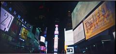 A night at Times Square (surgeon24hrs) Tags: street city nyc longexposure panorama newyork film night kodak handmade lofi wideangle pinhole 120film pinholecamera lensless portra pinholephotography nightwalk filmphotography portra400 f180 filmisnotdead pinorama singlefocuslength