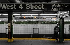 Manhattan Mondays (itsonlykotsy) Tags: city nyc newyorkcity urban blackandwhite newyork monochrome underground subway metro manhattan citylife stillife selectivecolor selectivecolour