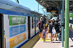 Closer Miracles (Pedestrian Photographer) Tags: california family beer girl station asian 50mm gold line passengers april 50 pointing crawl arcadia apr northbound ribbet 2016 dsc0975 dsc0975b