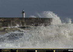 Sea Spray (andrewtijou) Tags: uk england storm sussex europe waves unitedkingdom harbour gale newhaven crashingwaves roughseas harbourwall andrewtijounikond7000