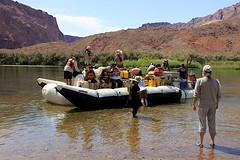 Excitement is Building (oxfordblues84) Tags: arizona sky people cloud reflection water clouds reflections tourists adventure rafting coloradoriver leesferry rafters nativeamerica raftingtrip michaelyoung whitewaterraftingtrip coconinocounty roadscholar roadscholartour roadscholartrip grandcanyonnationalparkexploringthenorthandsouthrims roadscholarorg