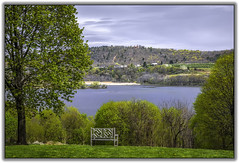Hudson River, Catskill, NY (jsleighton) Tags: tree river bench landscape spring view hudson