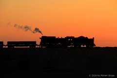 I_B_IMG_6419 (florian_grupp) Tags: china railroad sunset silhouette train landscape asia mine desert muslim railway steam xinjiang mikado locomotive coal js steamlocomotive 282 opencastmine sandaoling