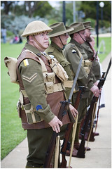 Thoughtful expression (Jerome Cornick) Tags: soldier army uniform australia perth nurse ww1 kingspark sunsetservice fromelles