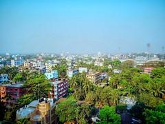 Sylhet city skyline. (sahilasanzana) Tags: blue sky skyline buildings cityscape sylhet bangladesh