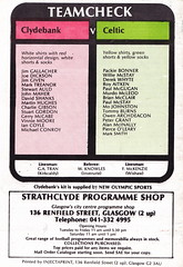 Clydebank vs Celtic - 1986 - Back Cover Page (The Sky Strikers) Tags: official fine scottish match celtic premier fare league programme the clydebank 50p bankies kilbowie