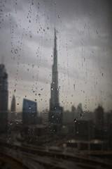 Unexpected weather (ljmz79) Tags: window rain skyscraper dubai raindrops lx100 burjkhalifa