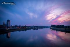 Purple sundown in Osijek (v.Haramustek) Tags: panorama night river mirror purple sundown outdoor osijek croatia drava slavonija kroatien