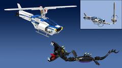 Titan Copter Sea Serpent Showdown (Oky - Space Ranger) Tags: monster digital robot force power lego pacific designer go contest super transformers vehicle voltron titan rim rangers mecha kaiju mech rift rifter