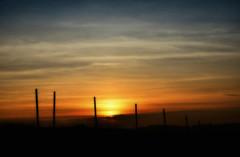 HFF :-) (eggii) Tags: sunset fence germany hff gppingen