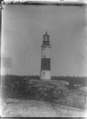 Jussar; majakka kalliolla lhikuvassa (KansallisarkistoKA) Tags: lighthouse beacon 1896 jussar majakka