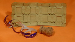 Happy New Year 2016! (Michał Kosmulski) Tags: orange brown digital origami display watch newyear hydrangea lcd timer tessellation 2016 sevensegment 7segment shuzofujimoto elephanthidepaper mmxvi michałkosmulski