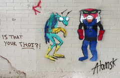 Space Ghost by Atomsk (wiredforlego) Tags: las streetart graffiti stencil mural lasvegas nevada urbanart moltar spaceghost zorak illegalart atomsk