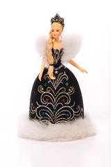 Black Dress Barbie-20160112_DSC8530.jpg (tinstafl) Tags: dogs christmasdecorations dolly figurine blondehair blackdress pad2016