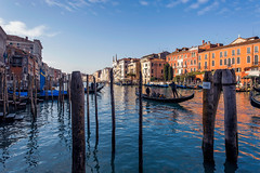 Grand Canal (JN) Tags: morning venice light italy water canal nikon italia angle wide grand 1735mmf28d venezia dri gondolas 1735mm d700