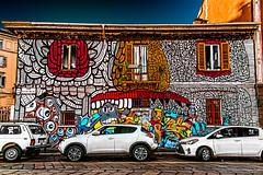 Crazy  drawings (Marco Trovò) Tags: italy house canon graffiti casa mural italia milano hdr naviglio murale darsena powershotg1x marcotrovò
