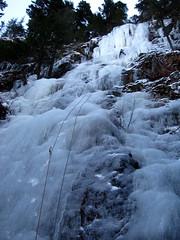 Roadside Attraction (Dru!) Tags: canada ice climb waterfall bc britishcolumbia climbing birkenhead climber pemberton darcy iceclimbing iceclimber coastmountains iceclimb wi3 westcoastice birkenheadice