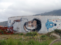 Curls (Nicote) Tags: street city man art history tourism water de puerto island islands coast la is spain place northwest north handsome graffity part cruz tenerife canary northern orotava municipality located cystern prominent occupies watercystern
