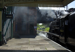 Loughborough Black Five (andrew_@oxford) Tags: black heritage station five great central engine railway steam loughborough