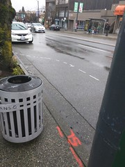 New curb bulges coming, W 10th Ave at Sasamat, NE and SW corners (Alex-Boy) Tags: vancouver walking point grey traffic calming pedestrian infrastructure
