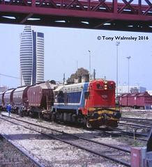 121 Haifa East -   (TonyW1960) Tags: gm 121 haifa g12 emd israelrailways  haifaeast  haifamizrah