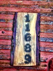 Address plaque made of natural edge pecan slab (Sporkchops) Tags: wood home natural rustic gift pecan decor address madeinoklahoma gruberdesignsstudio
