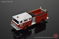 No. 476 | GRELL | 1974 Mack Fire Engine (www.diecastfirecollection.com) Tags: mack diecast grell mackcf