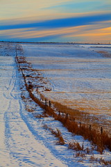 Awkward (stevenbulman44) Tags: blue winter sky snow color calgary landscape farm tripod filter alberta fenc gnd 70200f28l