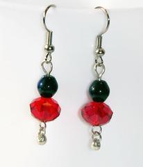 Black and Red Beaded Earrings, Dangle Earrings, Bead Jewelry, Bead Earrings, Beadwork Jewelry (edelweisshu) Tags: red jewelry bead earrings etsy dangle beaded beadwork edelweisstreasures