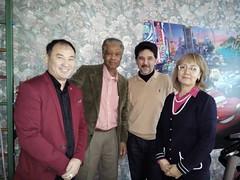 Yskakuly Meiram (paraphsycologist), Mr. John Griffin, Mr. Askar Toksanbayev and a parent (COCAFoundation) Tags: kazakhstan coca autism astana