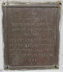 Lincoln County Courthouse Benjamin Logan Plaque (Stanford, Kentucky) (courthouselover) Tags: kentucky ky stanford lincolncounty courthouseextras
