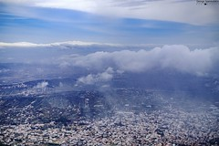 """i was """"high"""" (altitude..no drugs..i hate drugs:)) (George Spanoudakiss) Tags: city sky mountain clouds outdoors fuji cloudy athens greece fujifilm atmospheric"""