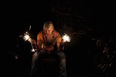 Friday Night Lights (eddi_monsoon) Tags: portrait selfportrait self 365 sparkler selfie threesixtyfive
