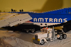 32 - White Semi & C-4 (Buff83ST) Tags: city west scale wheel america truck out nose layout coast town us airport cabin ramp long flat lego cab aircraft aviation military united transport style cargo semi camion american hauling airbus hood states boeing minifig titan heavy lockheed load freight loads trucking transporter sleeper loading fifth freighter alliance haul c4 amercian minifigure lkw antonov hauler cabover ilyushin flatnose schwertransport sattelschlepper auflieger sattelauflieger sattelzug 40tonner amtrans rmorque vierzigtonner