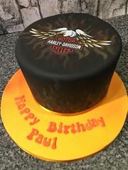 Harley Davidson Flames Cake