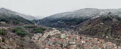 Two seasons (bogomil petrov) Tags: city winter panorama snow forest town bulgaria canon1dmarkii 1dii asenovgrad rodophe twoseason asensfortress sigma50500hsmos