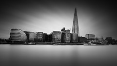 Fortissimo (vulture labs) Tags: city longexposure blackandwhite bw london monochrome thames skyline architecture clouds skyscraper photography mono cityscape monotone monochromatic more workshop grad monolith shard cityoflondon morelondon londonskyline ndfilter firecrest 10stop vulturelabs
