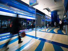 Go with the flow (marco ferrarin) Tags: water station metro uae platform burjuman محطة برجمان dubaimetro hamriya مترودبي محطةبرجمان