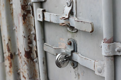 Locked Away (carlin.lusk) Tags: handle rust lock cargo container shipping latch