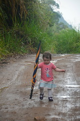 Ready for the downpour (barry gahan) Tags: umbrella amy hiking ella srilanka