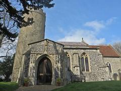 Poor living - Aslacton Norfolk (jmc4 - Church Explorer) Tags: tower church norfolk porch round aslacton
