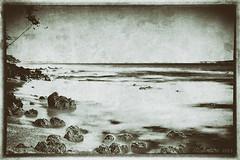 longexposure sea bw mer monochrome landscape textured... (Photo: Alcosinus  ON/OFF  on Flickr)